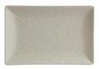 Фото Блюдо прямоугольное кремовое фарфоровое 30х20х2,5 см (B2996)