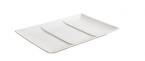 Фото Тарелка 3-х секционная матовая керамическая 29,5х19,5х2,5 см (B2983)