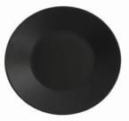Фото Тарілка чорна матова фарфорова 23x5 см (B2967)
