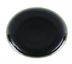 Фото Тарелка столовая 26 см, глянец, черно-зеленая (B758096)