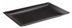 Фото Блюдо черное прямоугольное, 25*15 (B2774)