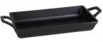 Фото Сковородка с ручкой прямоугольная чугунная 22х11,5х4 см (с ручками 27х11,5х4 см), 480 мл (B941009)