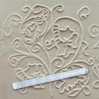 Фото Скалка текстурная прозрачная акрил. Д=29мм L=290мм EMPIRE (8956)