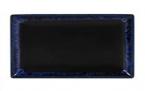 Фото Тарелка прямоугольная, 25*15, черно-синяя (B758112)