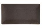 Фото Блюдо прямоугольное шоколадное фарфоровое 30х15х2 см (B3302)