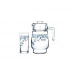Фото Arcopal.Aliya Blue.Набір/вода(глеч.1,6л,склян.270мл-6шт)-7пр.Е N3421