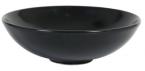 Фото Салатник черный круглый фарфоровый 19,5х5 см, 700 мл (B758038)