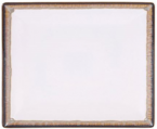 Фото Тарілка квадратна 24х24х2,5 см, бежово-коричнева (В758064)