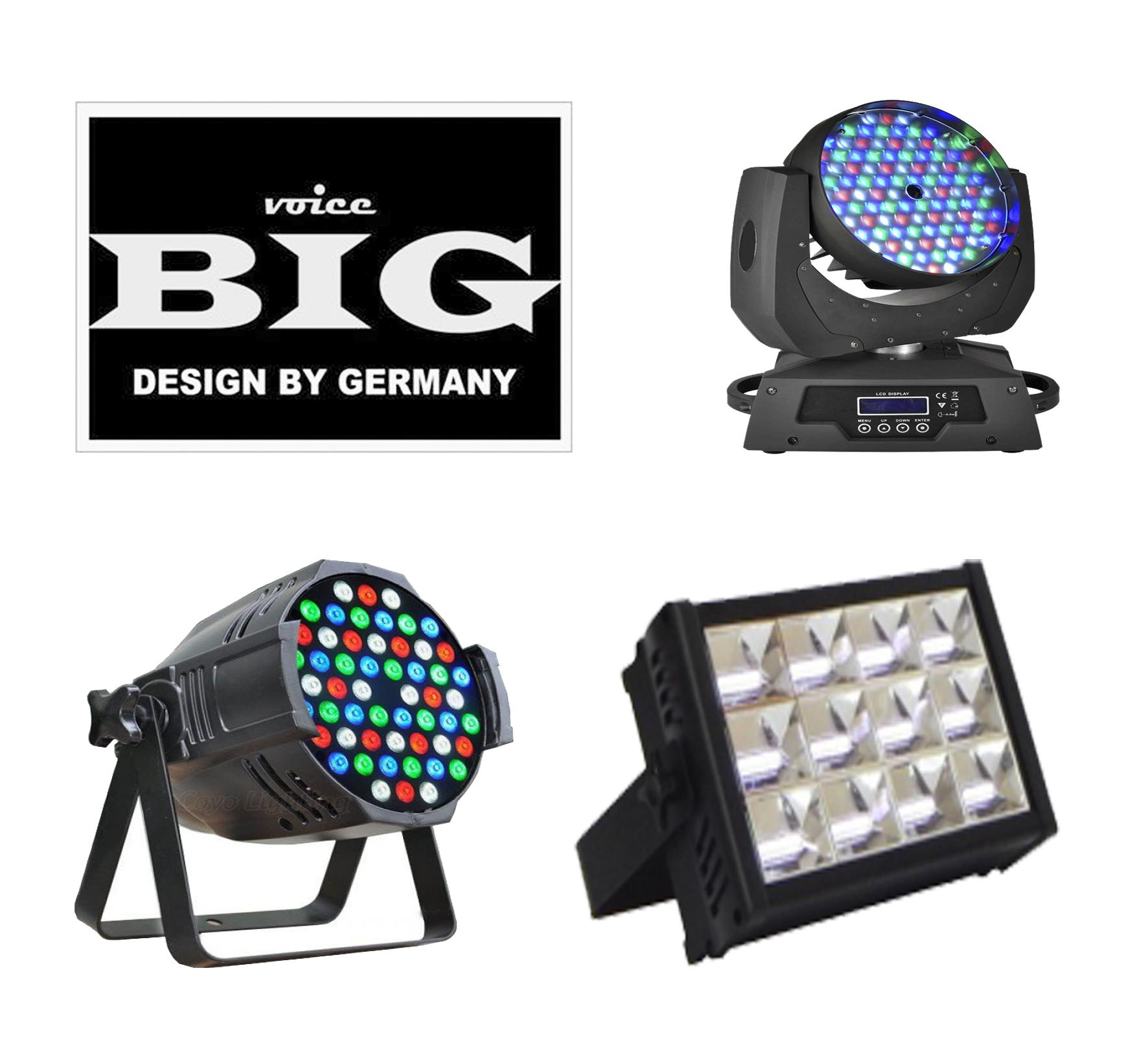 Фото Новинки! Новое поступление бюджетной линейки светодиодных голов, прожекторов и стробоскопов от фирмы BIG!