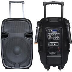 Фото Автономная акустическая система BIG JB12RECHARGE350+MP3/Bluetooth+20V INVERTER+2pcs VHF mic L