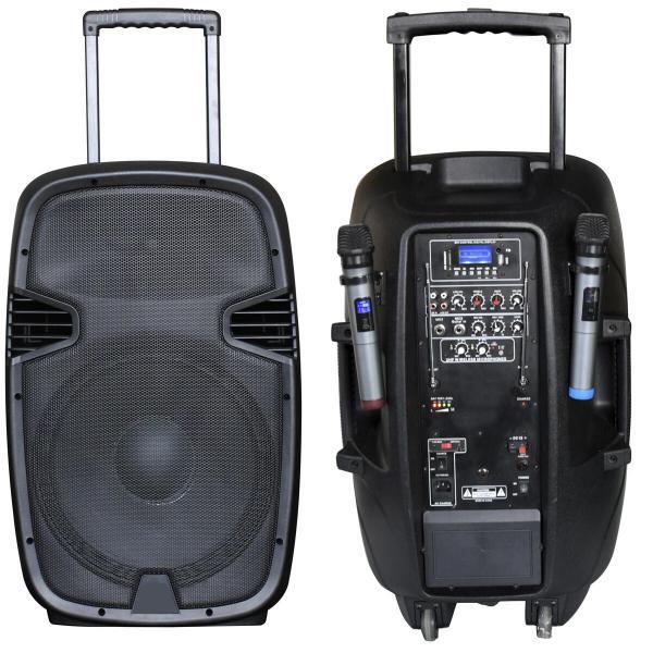 Фото Автономная акустическая система BIG JB15RECHARGE400+MP3/FM/Bluetooth+30V INVERTER+2pcs UHF mic L