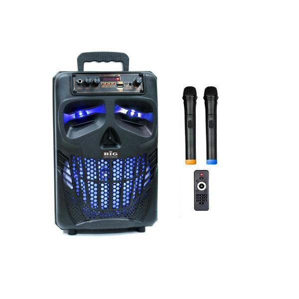 Фото Автономная акустическая система BIG120HALLOWEN USB/MP3/FM/BT/TWS + 2pcs VHF mic L