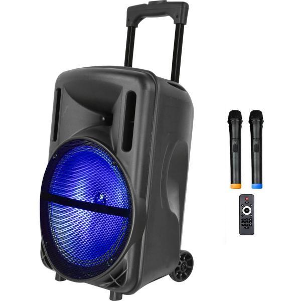 Фото Автономная акустическая система BIG200BAT USB/MP3/FM/BT/TWS + 2pcs VHF mic L