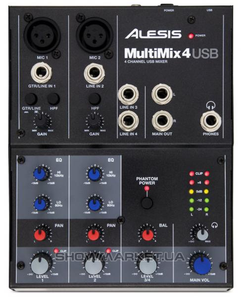 Фото Микшерный пульт - ALESIS MULTIMIX 4 USB L