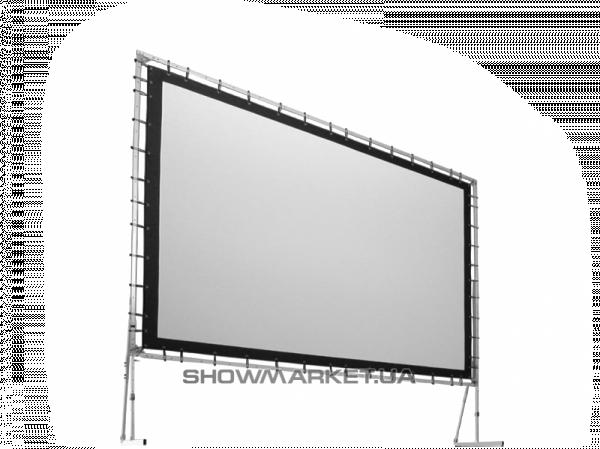 Фото Экран прямой пассивной 3D проекции на люверсах из посеребрённого перфорированного полотна AV Screen L