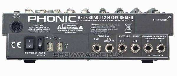 Фото Микшерный пульт - Phonic HELIX BOARD 12 Firewire MKII L