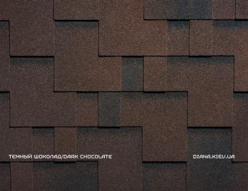 Битумная черепица RUFLEX PREMIUM RUNA Темный шоколад