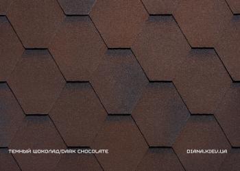 Битумная черепица RUFLEX PREMIUM Sota Темный шоколад
