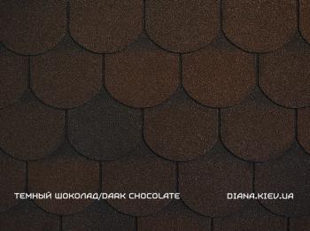 Битумная черепица RUFLEX PREMIUM ORNAMI Темный шоколад