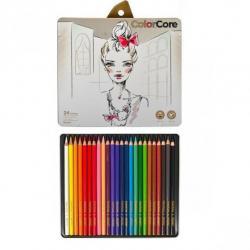Карандаши цветные Marco ColorCore 24 цвета + 1 графитный НВ 3130 / 24TN