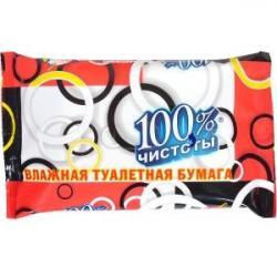 Влажный туалетная бумага 100% чистоты 331710