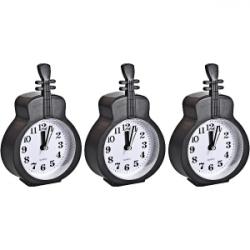 Настольные часы-будильник Гитара черная НА-665