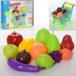 Тележка супермаркет 17-29-26см, продукты (овощи, фрукты), 588