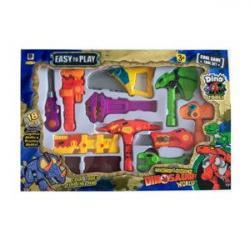 Набор инструментов (динозавр, молоток, топор, 18 предметов) 661-350