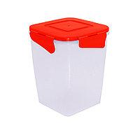 Контейнер для хранения продуктов глубокий с зажимом 1л