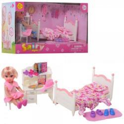 Кукла 10см. (кровать, стол, стул, аксессуары), DEFA, 8393