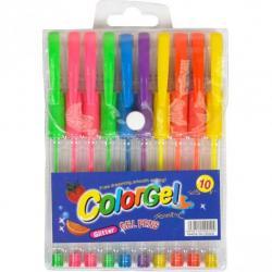 Набор гелевых ручек COLOR-IT Neon 10 цветов 0,7мм