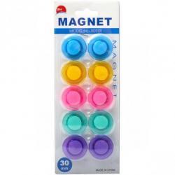 Набор магнитов COLOR-IT Magnet 30мм 10 штук Разноцветные