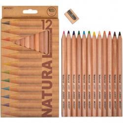 Карандаши цветные Marco Natural Jumbo 12 цветов + точилка 6400/12