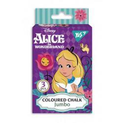 Мел YES JUMBO Alice 3 шт. цветной 400387