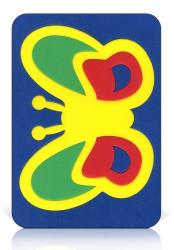 Мозаика-вкладыш мягкая Бабочка2
