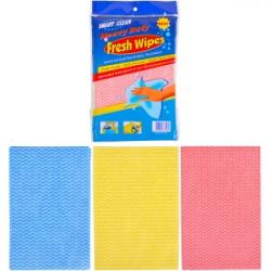 Тряпка Fresh Wipes 3 цвета по 3шт, полиэстер 8034