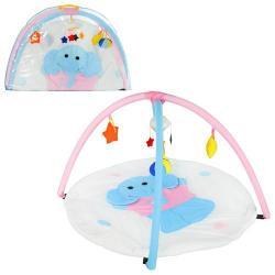 Коврик для младенца (слоник, круглый, дуги 2 шт., подвески-плюш 5 шт., сумка) W 8311