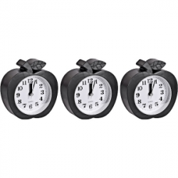 Настольные часы-будильник Яблоко черное НА-666