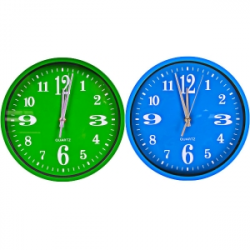 Настенные часы Круг цветной циферблат 562J3