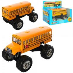 Автобус металлический инерционный 13см, KS5108W