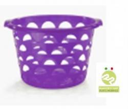 Корзина Cookie для белья круглый 23л, фиолетовый