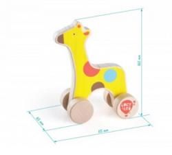 Каталка деревянная Жираф