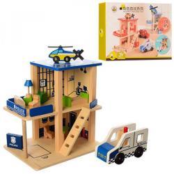 Деревянная игрушка Гараж 2 этажа, MD 1059