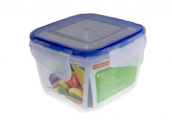 Контейнер для пищевых продуктов с зажимом (квадратный) 0,45л