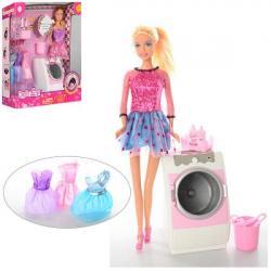 Кукла 29см с нарядом, стиральная машина, DEFA 8323