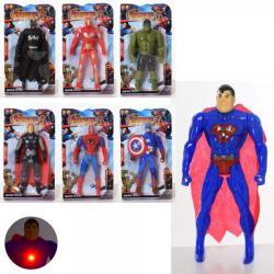 Супергерой 16см свет, батарейка 1161-61C