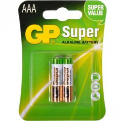 Батарейка GP 24A-U2 щелочная LR03, AAA по 2 шт. Alkaline Super