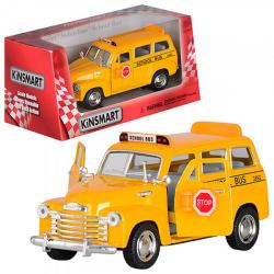 Машина металлическая инерционная Школьный автобус 12,5см KT5005W