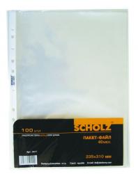 Набор файлов-карманов 20шт. SCHOLZ А4 40мкм. 5011