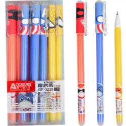 Ручка гелевая Пиши-Стирай ODEMEI Супер Герои 0,35мм синяя 3228
